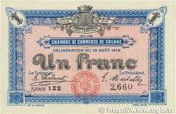 1 Franc FRANCE régionalisme et divers COGNAC 1916 JP.049.03 pr.NEUF
