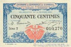 50 Centimes FRANCE régionalisme et divers CORBEIL 1920 JP.050.01 TTB+