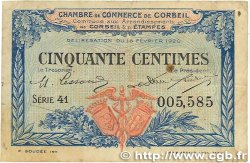 50 Centimes FRANCE régionalisme et divers Corbeil 1920 JP.050.01 pr.TTB