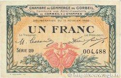 1 Franc FRANCE régionalisme et divers Corbeil 1920 JP.050.03 TTB