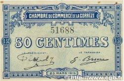 50 Centimes FRANCE régionalisme et divers Corrèze 1915 JP.051.01 SUP+