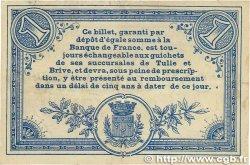 1 Franc FRANCE régionalisme et divers CORRÈZE 1915 JP.051.03 TTB
