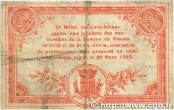 50 Centimes FRANCE régionalisme et divers CORRÈZE 1915 JP.051.09 TB