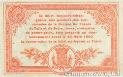 50 Centimes FRANCE régionalisme et divers Corrèze 1915 JP.051.15 SUP