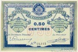 50 Centimes FRANCE régionalisme et divers Dieppe 1918 JP.052.01 SUP