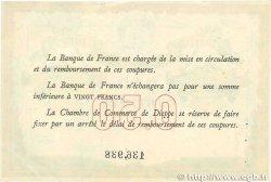 50 Centimes FRANCE régionalisme et divers DIEPPE 1918 JP.052.01 TTB