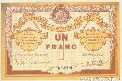 1 Franc FRANCE régionalisme et divers DIEPPE 1918 JP.052.04 SUP