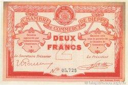 2 Francs FRANCE régionalisme et divers Dieppe 1918 JP.052.07 SUP