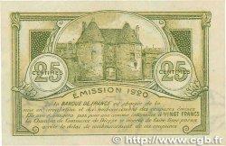 25 Centimes FRANCE régionalisme et divers DIEPPE 1920 JP.052.10 SPL