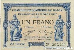 1 Franc FRANCE régionalisme et divers DIJON 1917 JP.053.14 SPL