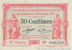 50 Centimes FRANCE régionalisme et divers DIJON 1919 JP.053.17 SPL+