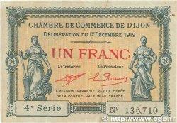 1 Franc FRANCE régionalisme et divers DIJON 1919 JP.053.20 TTB