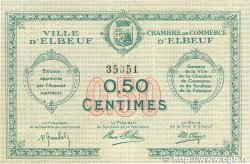 50 Centimes FRANCE régionalisme et divers ELBEUF 1918 JP.055.01 SUP+