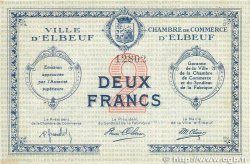 2 Francs FRANCE régionalisme et divers Elbeuf 1918 JP.055.03 pr.SPL