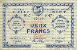 2 Francs FRANCE régionalisme et divers ELBEUF 1917 JP.055.13 pr.TTB