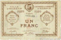 1 Franc FRANCE régionalisme et divers ELBEUF 1920 JP.055.17 SUP
