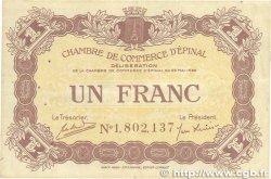 1 Franc FRANCE régionalisme et divers ÉPINAL 1920 JP.056.10 TTB+