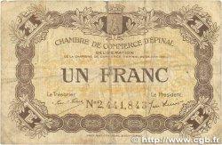 1 Franc FRANCE régionalisme et divers ÉPINAL 1921 JP.056.14 B