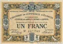1 Franc FRANCE régionalisme et divers Évreux 1915 JP.057.09 SUP