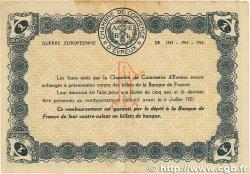 1 Franc FRANCE régionalisme et divers Évreux 1915 JP.057.09 TTB