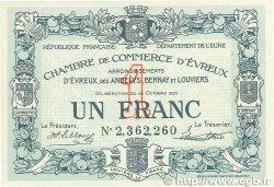 1 Franc FRANCE régionalisme et divers ÉVREUX 1920 JP.057.19 SPL+
