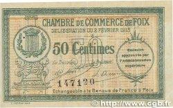 50 Centimes FRANCE régionalisme et divers FOIX 1915 JP.059.05 SUP
