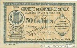 50 Centimes FRANCE régionalisme et divers FOIX 1915 JP.059.05var. TTB