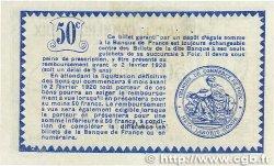 50 Centimes FRANCE régionalisme et divers FOIX 1915 JP.059.09 SPL
