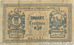 50 Centimes FRANCE régionalisme et divers Foix 1920 JP.059.13 B