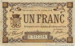 1 Franc FRANCE régionalisme et divers GRANVILLE 1915 JP.060.04 TTB