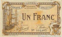 1 Franc FRANCE régionalisme et divers GRANVILLE 1916 JP.060.09 TTB+