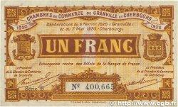 1 Franc FRANCE régionalisme et divers Granville et Cherbourg 1920 JP.061.03 TTB