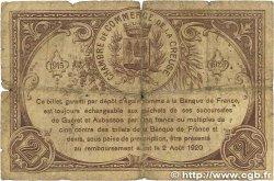 2 Francs FRANCE régionalisme et divers GUÉRET 1915 JP.064.05 B