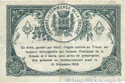 50 Centimes FRANCE régionalisme et divers GUÉRET 1920 JP.064.19 TTB+