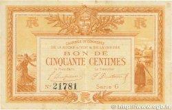 50 Centimes FRANCE régionalisme et divers LA ROCHE-SUR-YON 1915 JP.065.14 SUP