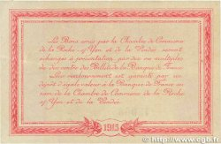 1 Franc FRANCE régionalisme et divers La Roche-Sur-Yon 1915 JP.065.17 SUP