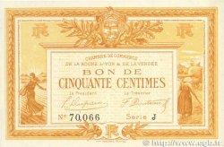 50 Centimes FRANCE régionalisme et divers LA ROCHE-SUR-YON 1915 JP.065.23 SUP+
