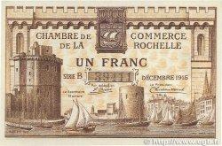 1 Franc FRANCE régionalisme et divers La Rochelle 1915 JP.066.03 pr.NEUF