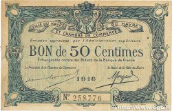 50 Centimes  FRANCE regionalism and various Le Havre 1916 JP.068.14