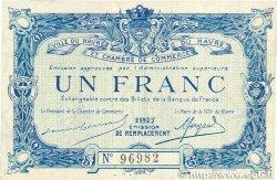 1 Franc FRANCE régionalisme et divers Le Havre 1917 JP.068.18 SPL