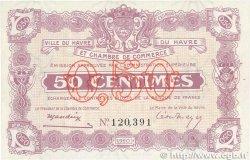 50 Centimes FRANCE régionalisme et divers LE HAVRE 1920 JP.068.20 SPL