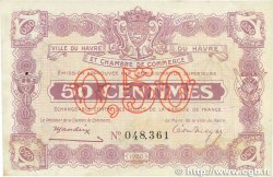 50 Centimes FRANCE régionalisme et divers Le Havre 1920 JP.068.20 SUP