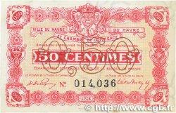 50 Centimes FRANCE régionalisme et divers LE HAVRE 1922 JP.068.33 SUP