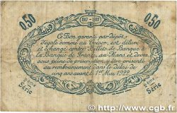50 Centimes FRANCE régionalisme et divers LE MANS 1917 JP.069.09 pr.TTB
