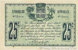 25 Centimes FRANCE régionalisme et divers LE MANS 1922 JP.069.20 SUP