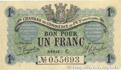 1 Franc FRANCE régionalisme et divers LE PUY 1916 JP.070.06 TTB