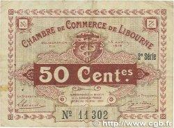50 Centimes FRANCE régionalisme et divers Libourne 1915 JP.072.12 TTB