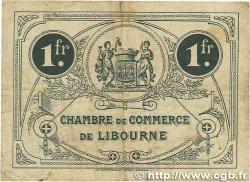 1 Franc FRANCE régionalisme et divers LIBOURNE 1915 JP.072.13 TB