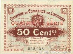 50 Centimes FRANCE régionalisme et divers Libourne 1917 JP.072.18 SUP+