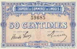50 Centimes FRANCE régionalisme et divers LIMOGES 1914 JP.073.01 SUP+